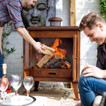 Volantis Oxidised Steel Cabinet Outdoor Fireplace