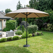 Easy Up Parasol - Taupe 3.3m
