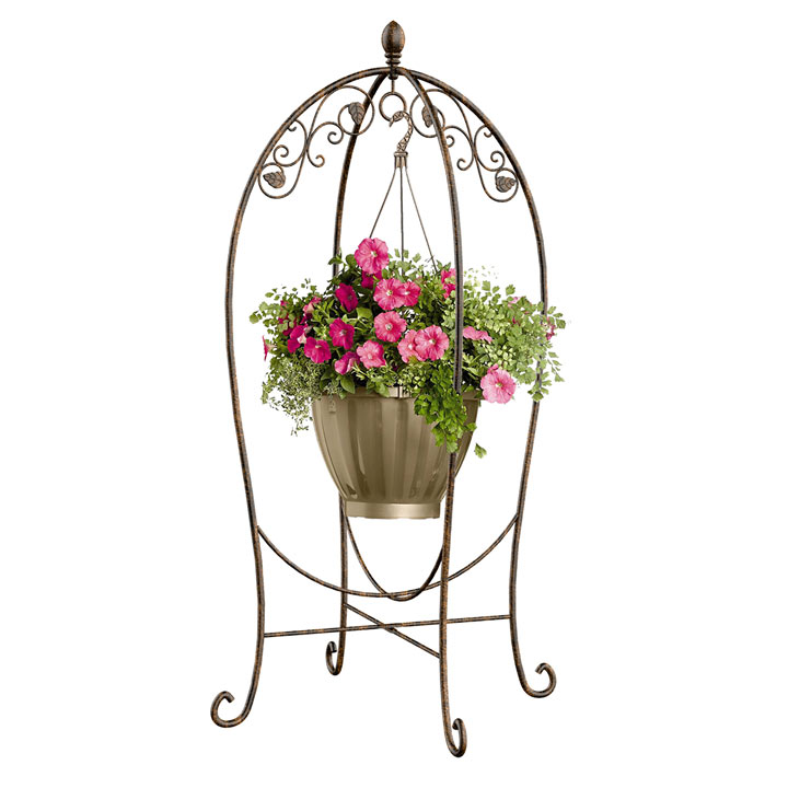 Scroll & Ivy Basket Hanger