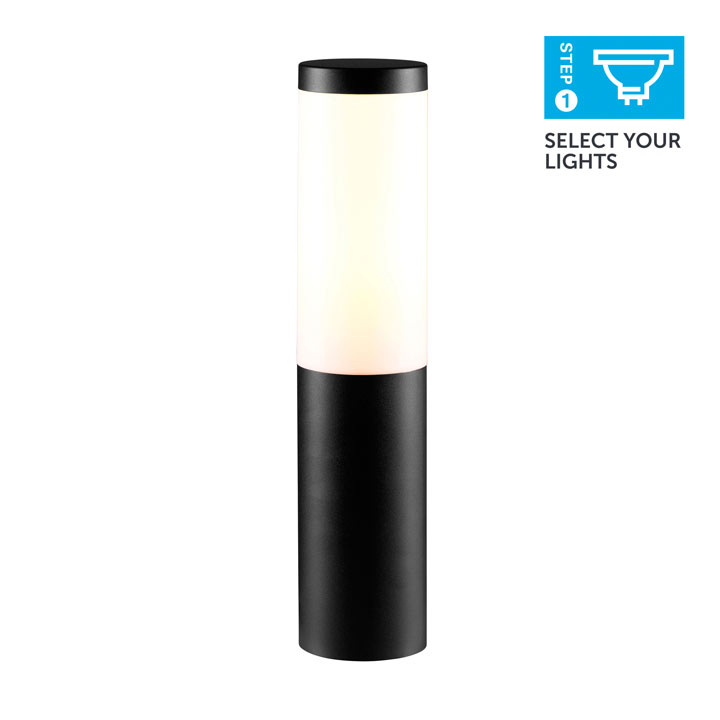 Black Bollard Light