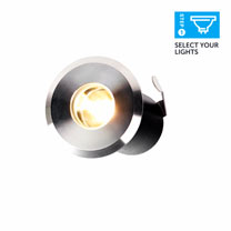 Set of 4 Small Stainless Steel Deck Lights
