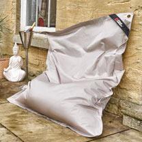The Daddy Bean Bag - Light Grey/Silver
