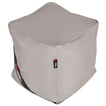 The Pouf Bean Bag Footstool - Light Grey/Silver