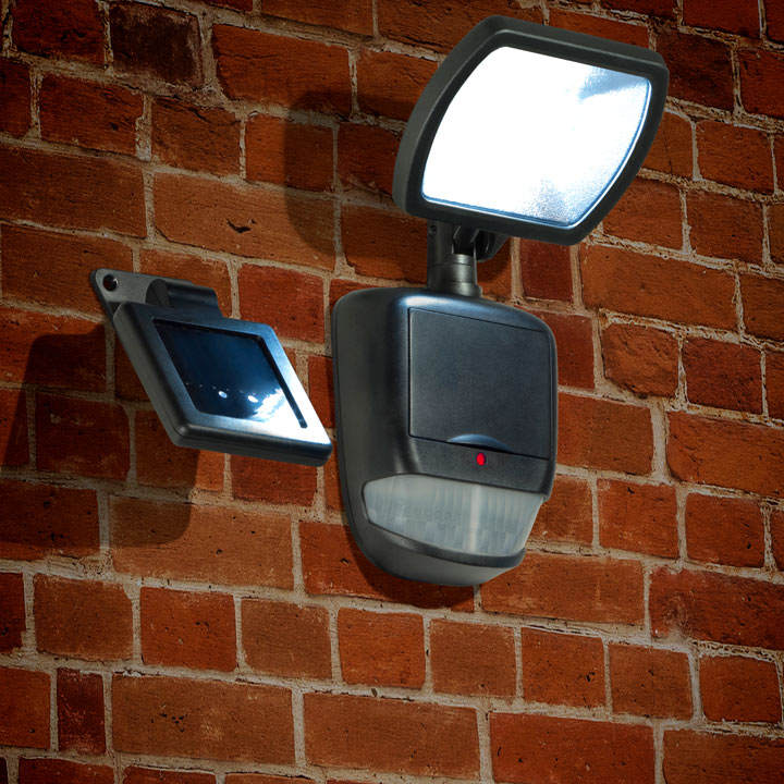 Black Solar Security Light with Motion Sensor - 120 lumens