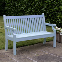Seaton 3 Seater Zero Maintenance Bench - Blue