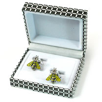 Yellow Winged Bee Cufflinks