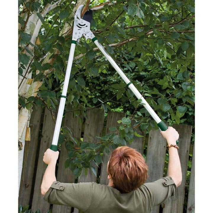 Kew Heavy duty Telescopic Rachet Anvil Loppers
