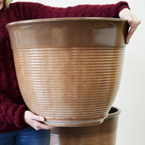 Large Glazed Ceramic Effect Plastic Planter - 4