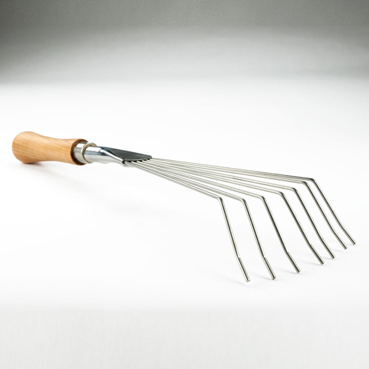 Leaf Rake - 14cm Cherry Handle