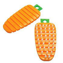 The Carrot' Flexible Scrubbing Brush