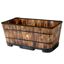 Tapered Medium Trough Planters - Burnt Oak
