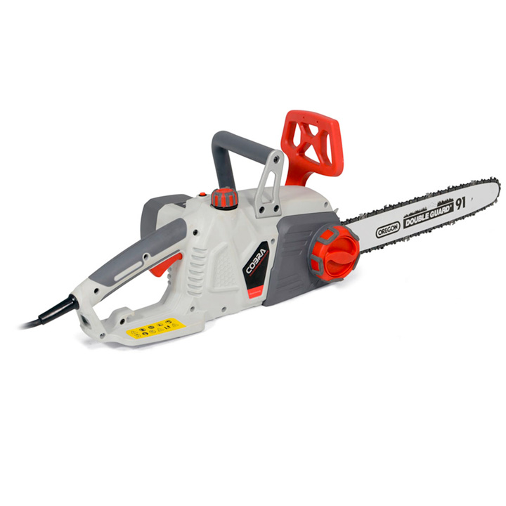 Cobra 14 electric chainsaw 1800w motor cutting and for Electric garden scissors