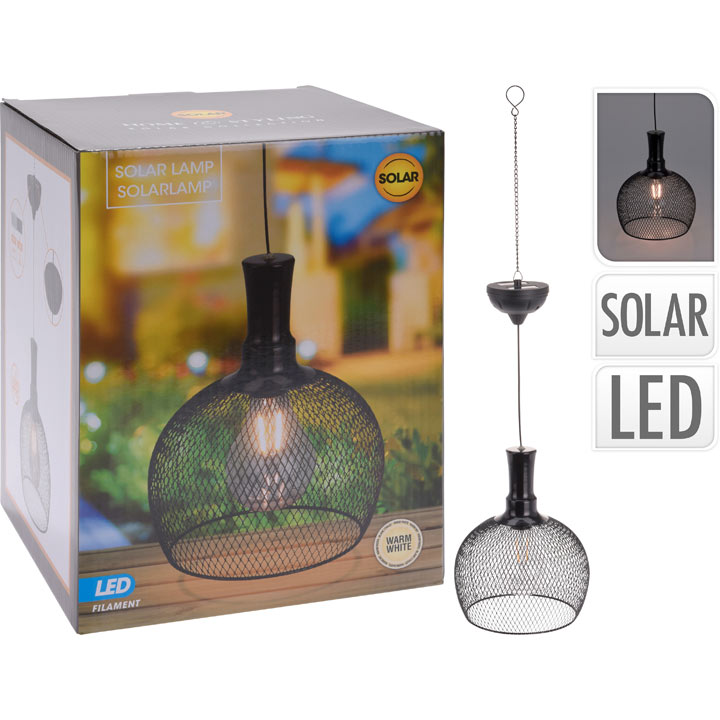 Wine Glass Solar Metal Hanging Light