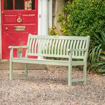 RHS Rosemoor 5' Bench - Sage Green / Cushion