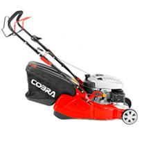 "Cobra 16"" Petrol Powered Rear Roller Lawnmower"
