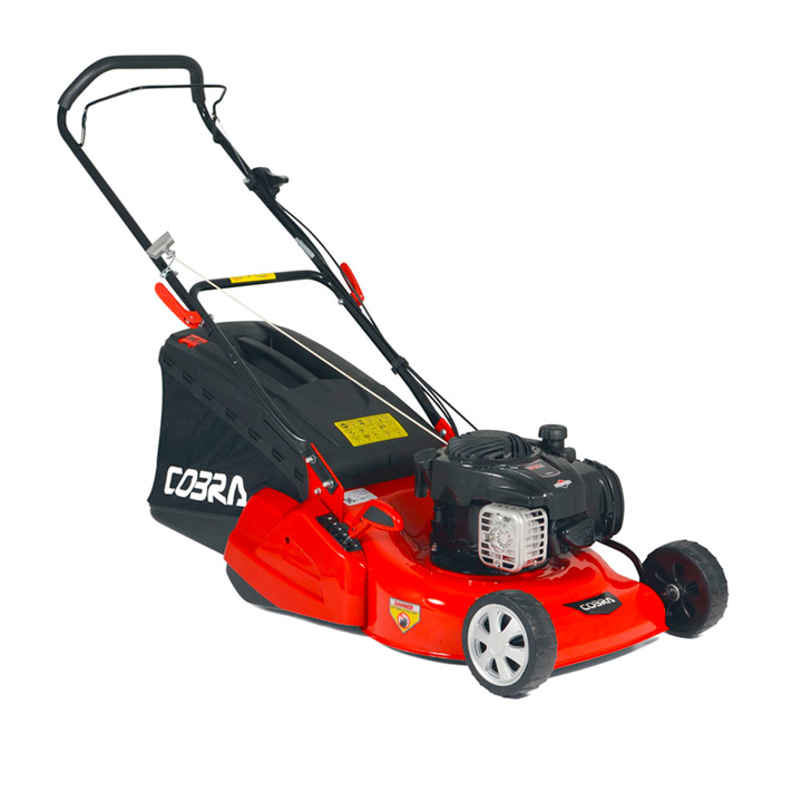 "Cobra 18"" Petrol Powered Rear Roller Lawnmower B&S"