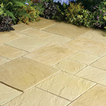 Image of Abbey Paving Random Patio Kit - 5.76m2 York Gold