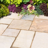 Natural Sandstone Patio Kit - 15.3m2 Eastern Sand