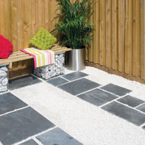 Natural Slate Patio Kit - 10.2m2 Sapphire Black