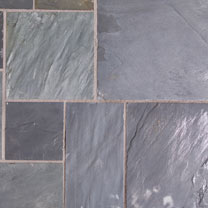 Natural Slate Patio Kit - 10.2m2 Sapphire Black