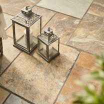 Natural Slate Patio Kit - 10.2m2 Rustic Bronze