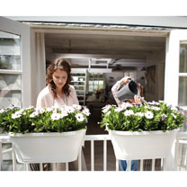 Corsica Flower Bridge Planter - White