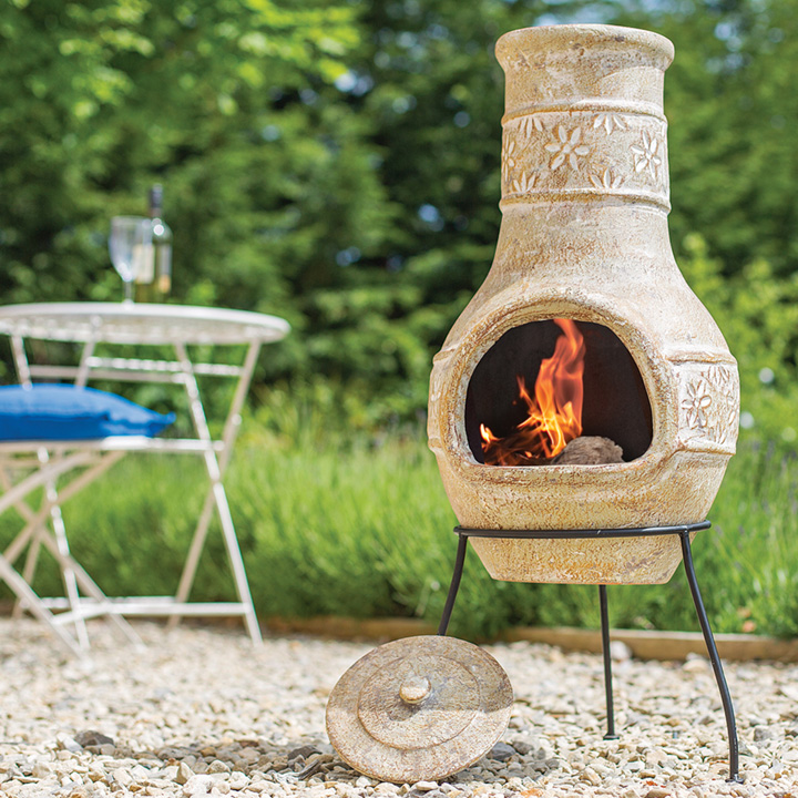 Medium Star Flower Chimenea
