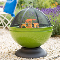 Globe Lime Firepit with Grill