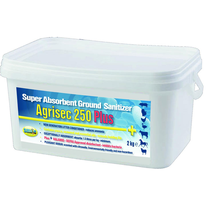 Agrisec 250 Plus Super Absorbant Ground Sanitiser - 2kg
