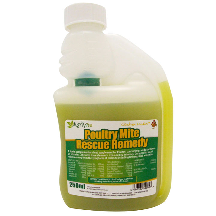 Agrivite Poultry Mite Rescue Remedy - 250ml