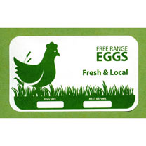 Egg Box Labels - Green Hen