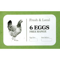 Image of Egg Box Labels - Monochrome