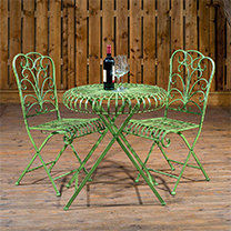 Round Table and Pair of Folding Chair