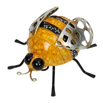 Decorative Metal Bee Duo