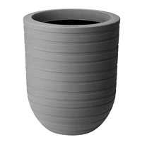 43cm Allure Ribbon High Pot - Mineral Clay Colour