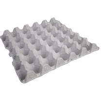 Image of Grey Fibre Egg Trays for 30 Eggs