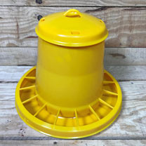 Plastic Chicken Feeder (Yellow) 1. 5kg