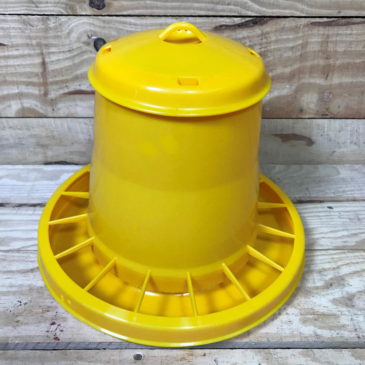 Plastic Chicken Feeder (Yellow) 7kg