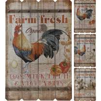 Wall Decoration - Four Hens