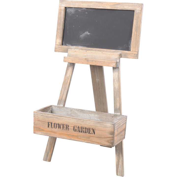 Flowerstand Wood with Blackboard