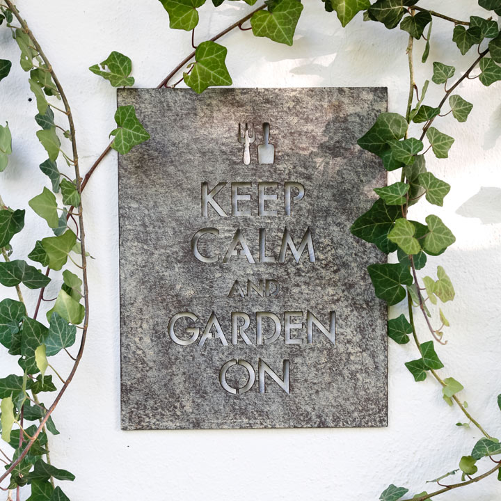 Keep Calm Garden Wall Sign