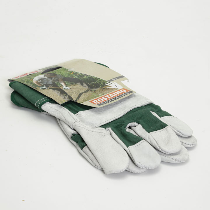 Gardening Gloves - Heavy Duty Premium Cotton / Leather Size 7