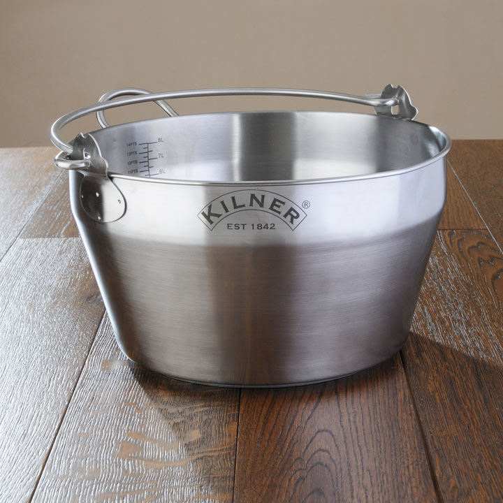 Kilner Steel Preserving Pan - 8 Litre
