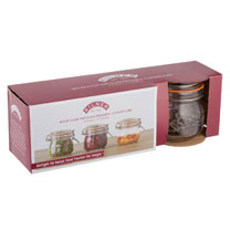 Set of 12 Kilner Clip Top Round Jars