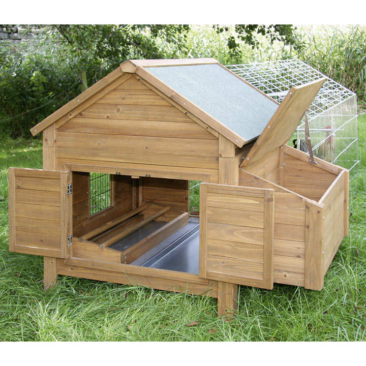 Chicken Coop, Nesting Box & Outdoor Pen
