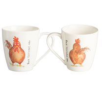 Price-Kensington Back to Front Hen Mugs