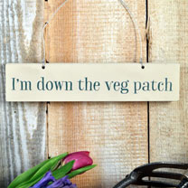 Wooden Sign - Veg Patch
