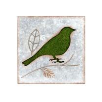 Flocked Wall Art - Bird