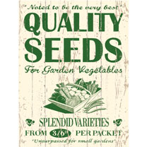Metal Sign - Seeds
