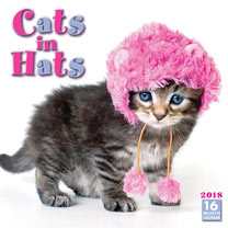Image of Cats in Hats Wall Calender